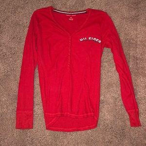 Tommy Hilfiger Red long sleeve shirt